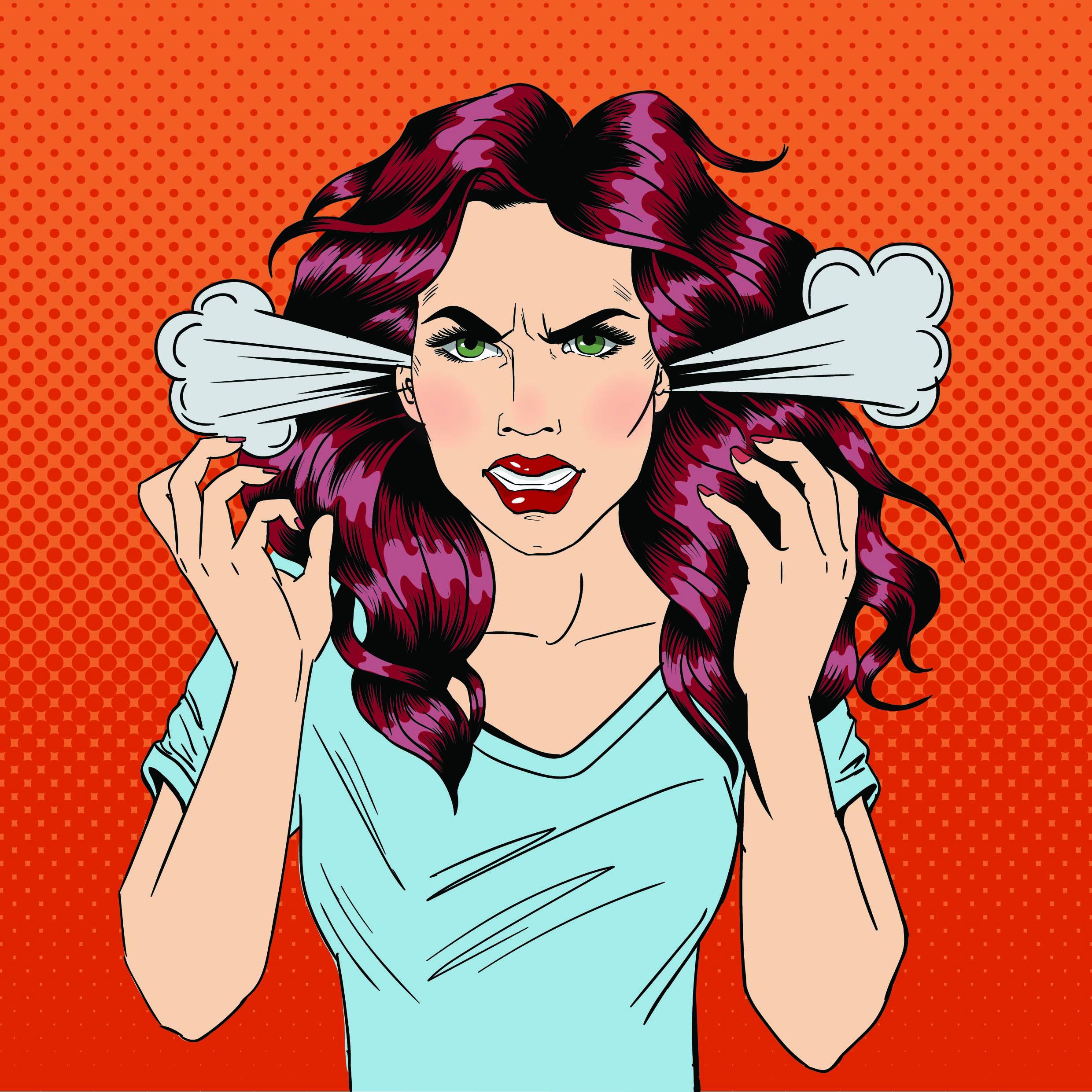 Angry Woman. Furious Girl. Negative Emotions. Bad Days. Bad Mood
